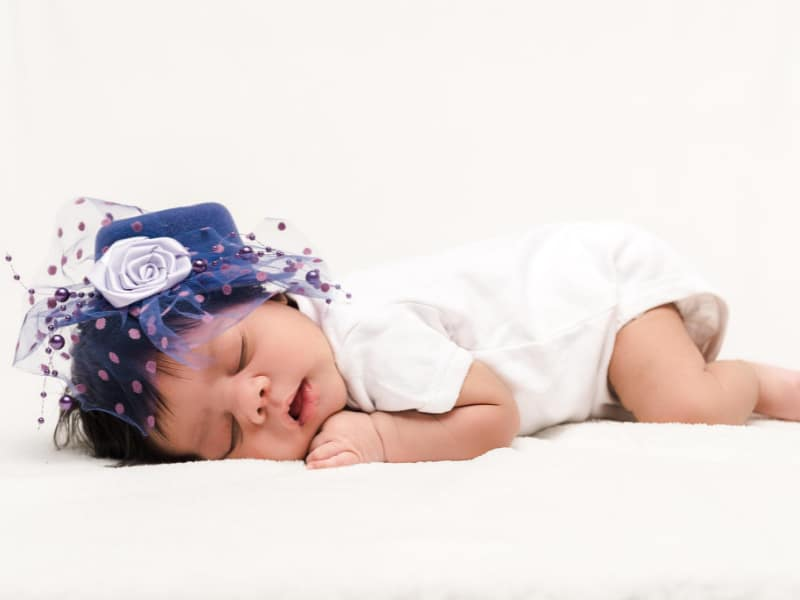 Baby Rolls Over While Sleeping